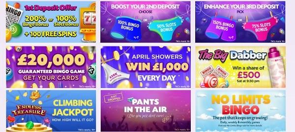 Lucky Pants Bingo welcome bonus and free spins