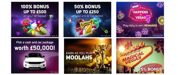 Magical Vegas Casino free spins bonus