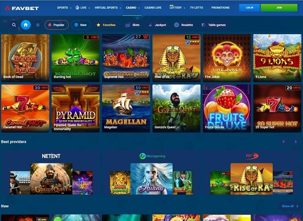 FavBet Casino Online Review