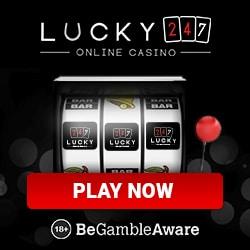 Lucky247 Casino 50 free spins bonus + $/€/£ 500 free bonus credits