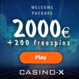 Casino-X bonus: 200 free spins and 100% up to €2000 bonus