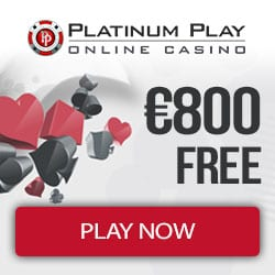 Platinum Play Casino (register & login) - 50 free spins and €800 bonus
