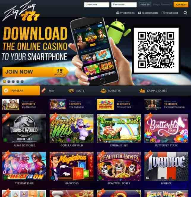 Zig Zag 777 Casino Review