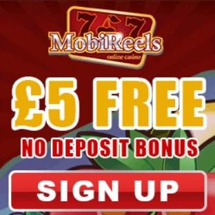 MOBIREELS - 50 free spins   £5 no deposit   £500 casino bonus