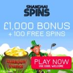 SHANGHAI SPINS – £1000 casino bonus and 100 netent free spins