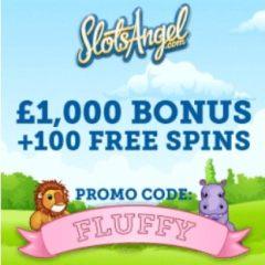 SLOTS ANGEL - 100 free spins and £1000 casino bonus - gratis!