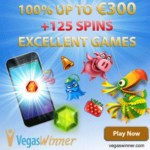 Vegas Winner Casino (PC & Mobile) 125 gratis spins   300€ free chips