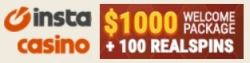 InstaCasino 100 free spins and €1000 welcome bonus