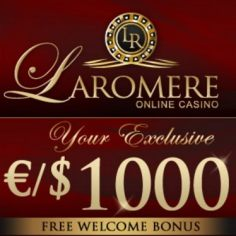 LaRomere Casino - 375% up to $/€1,000 bonus & free spins - bitcoins!