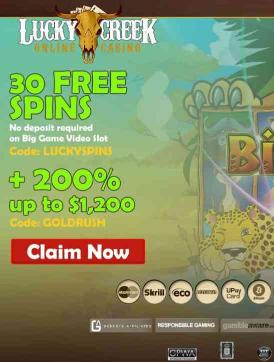 Lucky Creek Online Casino - USA welcome!