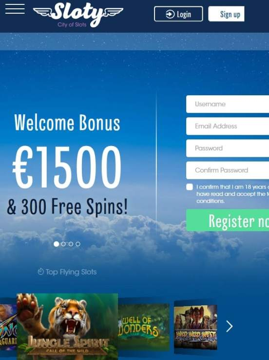 Sloty.com 300 free spins and 1500 euro free bonus - Online Casino