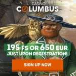 Columbus Casino Review: 195 free spins + 650 EUR welcome bonus