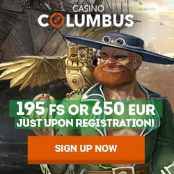 Columbus Casino Review: 195 free spins   650 EUR welcome bonus