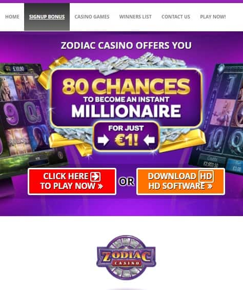 Zodiac casino no deposit play casino slot for free