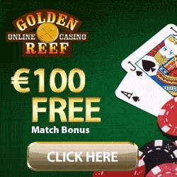 Golden Reef Casino 100 free spins + 100% up to €/$100 free bonus