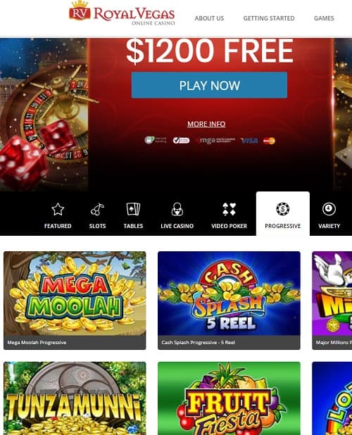 Royal Vegas Online Casino Free Spins Bonus