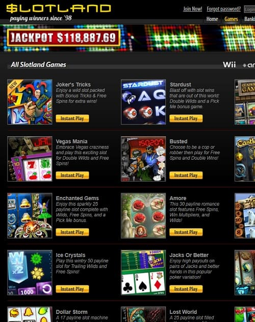 Slotland.eu Casino free bonus
