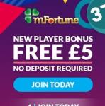 mFortune Casino [register & login] £5 free bonus to bet on mobile games