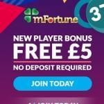 mFortune Casino [register & login] £5 free bonus to bet on mobile games