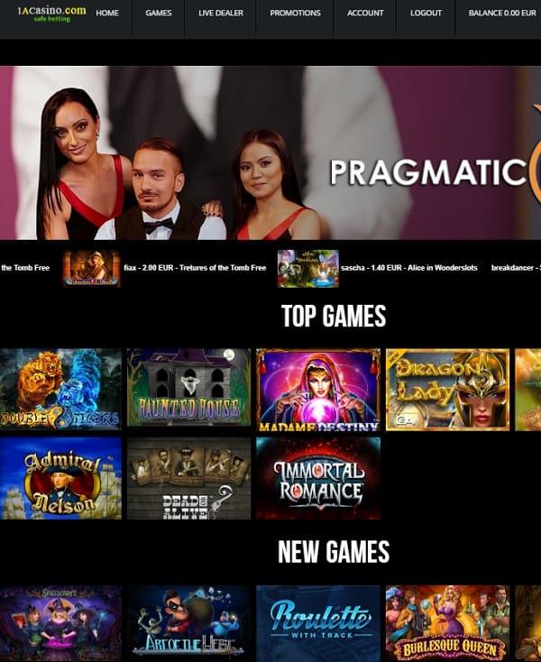 1A Casino review
