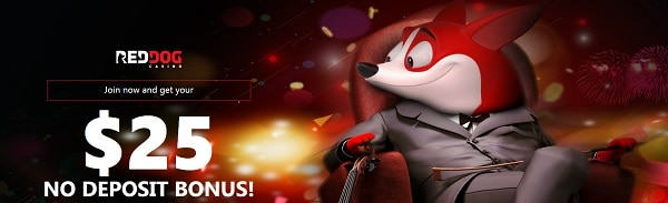 Red Dog Casino $25 no deposit bonus on Realtime Games