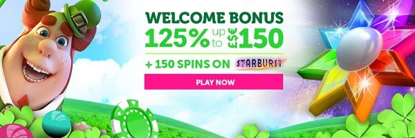 CasinoLuck.com 125% bonus and 150 free spins