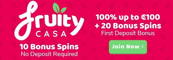 Fruity Casa Casino 10 free spins bonus without deposit
