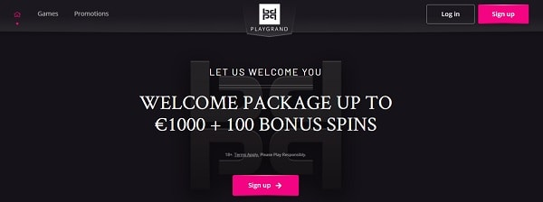 PlayGrand Casino 100 free spins and 1,000 GBP/EUR/USD welcome bonus