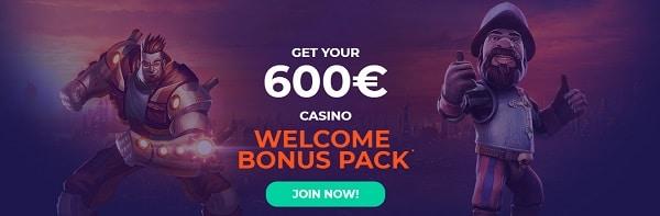 Vulkanbet welcome bonus - 600 EUR for new players
