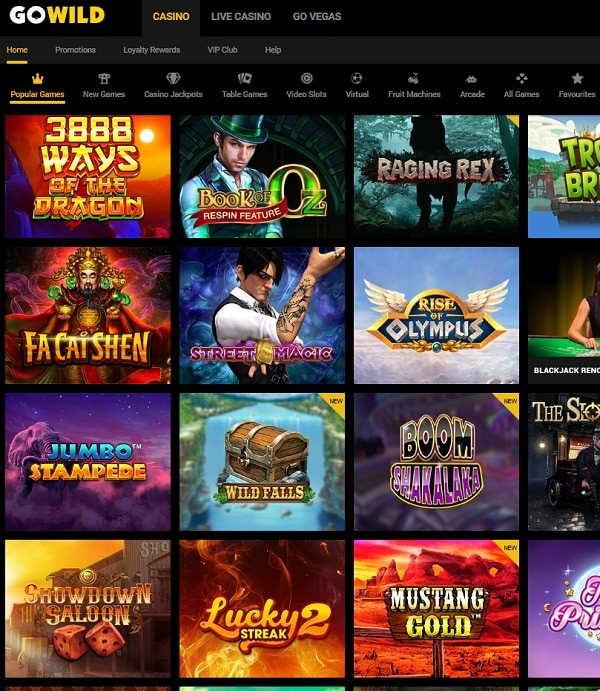 GOWILD Casino free play games