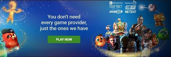 GOWILD Casino games, software, live dealer