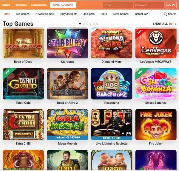Leo Vegas Casino mobile games