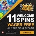 Videoslots.com Casino 11 free spins + 100% up to €200 extra bonus