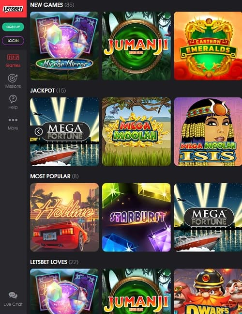 LetsBet Casino Review: 190 free spins and €1,000 new player bonus