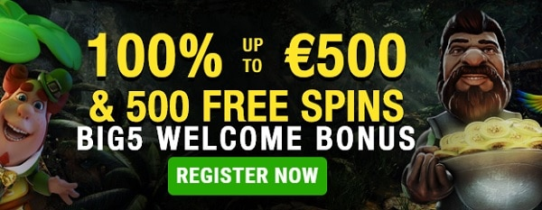 Big 5 Casino Welcome Bonus