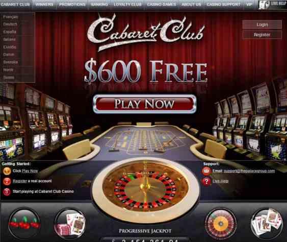 Cabaret Club Casino review: 30 free spins and 100% welcome bonus!