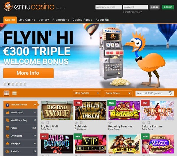 Emu Online Review Games
