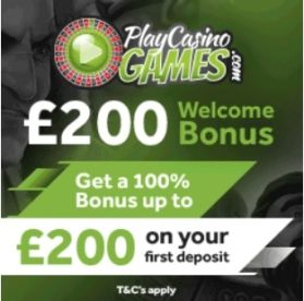 Play Casino Games | 100% up to £200 bonus and free spins | review