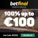 Betfinal Casino | 20 free spins and €100 free bonus | review