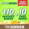 Zinger Spins Casino | 10 free spins and £10 gratis bonus | review