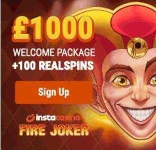 InstaCasino free spins