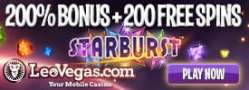 Leo Vegas Casino 250 free spins and €1500 welcome bonus