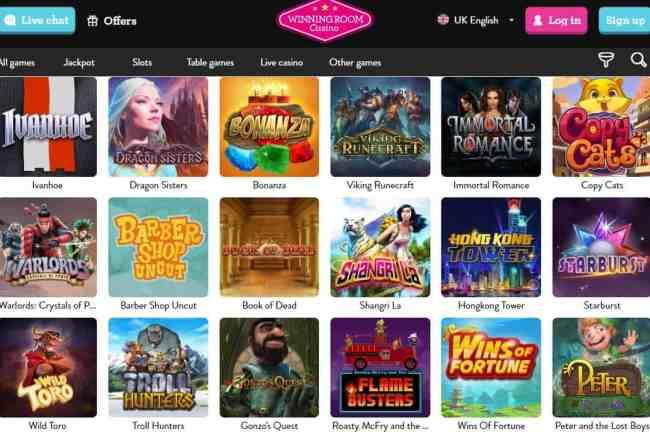 Winning Room Casino (Vinnarum Casino) Review