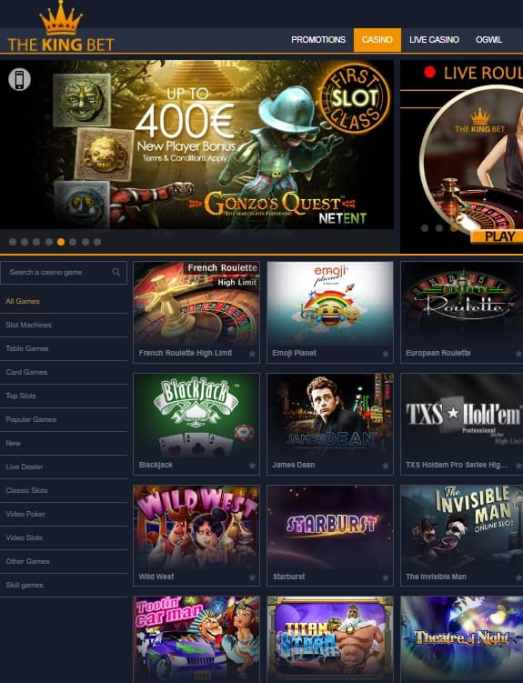 The King Bet Casino Review
