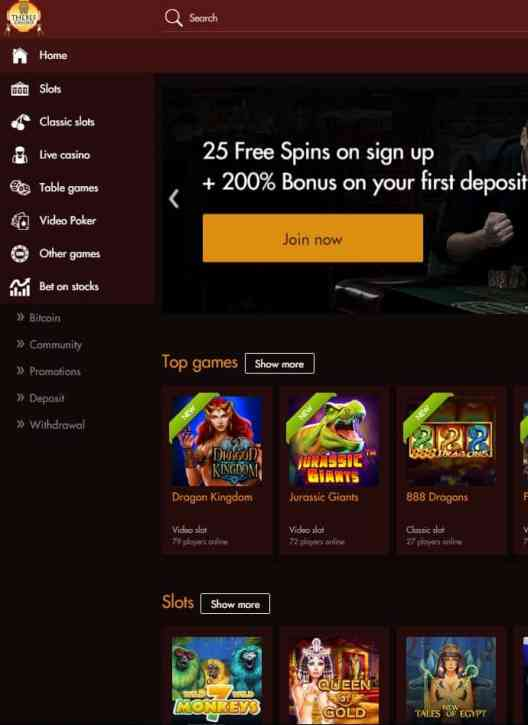 Thebes Casino Review