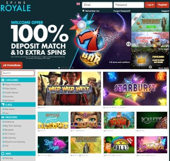 SpinsRoyale.com Review