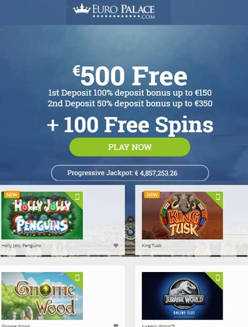 Europalace Casino free spins bonuses review