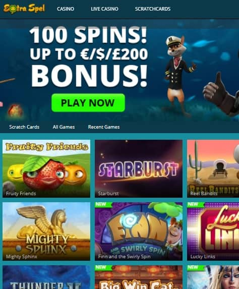 Extraspel Casino online & mobile review