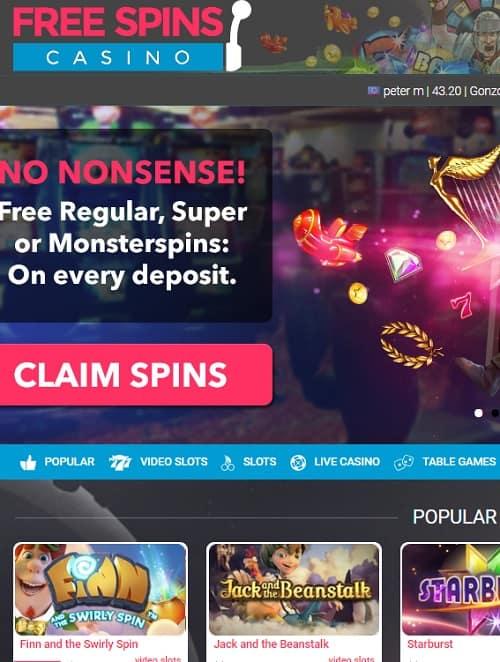 FreeSpinsCasino.com Review - exclusive welcome bonus