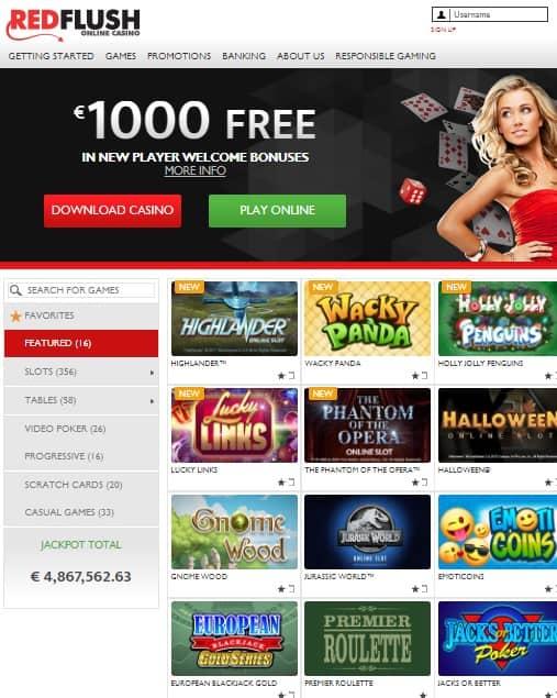 RedFlush Casino Online Review